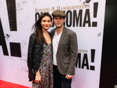 Broadway couple Phillipa Soo and Steven Pasquale have a date night at the theater.