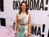Oklahoma! producer Eva Price arrives.