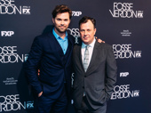 Broadway pals Andrew Rannells and The Prom's Brooks Ashmanskas take a photo.
