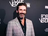 Mad Men Emmy winner Jon Hamm looks sharp for the Fosse/Verdon series premiere.