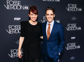 Whitney May and Fosse/Verdon executive producer Steven Levenson on the red carpet.