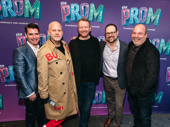 The Prom's lyricist and co-librettist Chad Beguelin, scribe Bob Martin, composer Matthew Sklar and director/choreographer Casey Nicholaw pose with Emmy-winning TV mastermind Ryan Murphy.