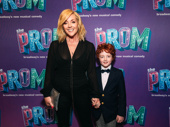 Tony winner Jane Krakowski and her son Bennett Robert Godley attend The Prom.