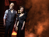 Patrick Page as Hades and Amber Gray as Persephone in Hadestown.