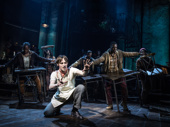 Reeve Carney as Orpheus in Hadestown.