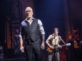 Patrick Page as Hades and Reeve Carney as Orpheus in Hadestown.