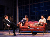 David Furr as Burton, Keri Russell as Anna and Brandon Uranowitz as Larry in Burn This.