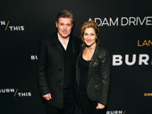 Bill Sage and Edie Falco step out for Burn This.