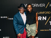 Broadway alum and Today Show reporter Al Roker and Deborah Roberts attend Burn This.