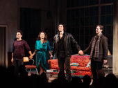 Burn This stars Brandon Uranowitz, Keri Russell, Adam Driver and David Furr take their curtain call.