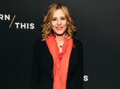 Stage and screen star Christine Lahti snaps a pic.