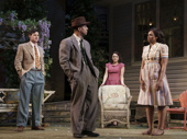Benjamin Walker as Chris Keller, Hampton Fluker as George Deever, Francesa Carpanini as Ann Deever and Chinasa Ogbuagu as Sue Bayliss in All My Sons.