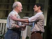 Tracy Letts as Joe Keller and Benjamin Walker as Chris Keller in All My Sons.
