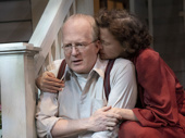 Tracy Letts as Joe Keller and Annette Bening as Kate Keller in All My Sons.