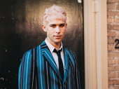 Tommy Dorfman steps out for opening night of Hadestown.