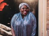 Tony winner Lillias White beams on the red carpet.