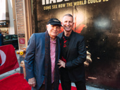 Theater couple Terrence McNally and Tom Kirdahy snap a photo.