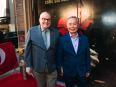 George and Brad Takei step out for opening night of Hadestown.