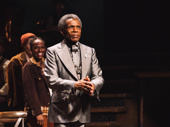 Hadestown standout André De Shields takes in the applause.