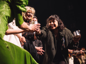 Hadestown's Eva Noblezada is all smiles at the curtain call.