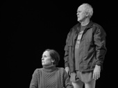 Laurie Metcalf as Hillary Clinton and John Lithgow as Bill Clinton in Hillary and Clinton.