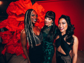 Hadestown's Jewelle Blackman, Yvette Gonzalez-Nacer and Kay Trinidad play the three Fates