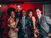 Hadestown's Kimberly Marable, Timothy Hughes, Ahmad Simmons, Afra Hines and John Krause