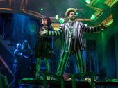 Sophia Anne Caruso as Lydia and Alex Brightman as Beetlejuice in Beetlejuice.
