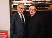Gary director George C. Wolfe is all smiles with star Nathan Lane.