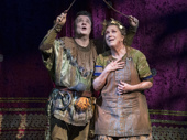 Nathan Lane as Gary and Kristine Nielsen as Janice in Gary: A Sequel to Titus Andronicus.