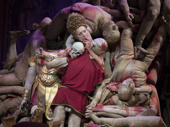 Julie White as Carol in Gary: A Sequel to Titus Andronicus.