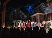 The cast of All My Sons during curtain call on opening night.