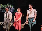 All My Sons cast members Hampton Fluker, Francesca Carpanini and Benjamin Walker take a bow.
