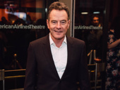 Network star Bryan Cranston enjoys a night of theater on his day off.