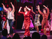 Tootsie's Lilli Cooper, Santino Fontana and Sarah Stiles dance it out at the opening night curtain call.