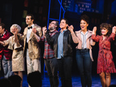 Santino Fontana and the cast of Tootsie take their opening night bows.