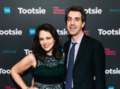 Theater couple Georgia Stitt and Jason Robert Brown take a photo.