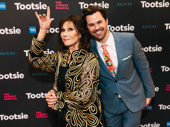 Michele Lee gets silly with Andrew Rannells on the red carpet.
