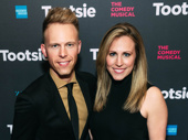 Dear Evan Hansen's Tony-winning songwriter Justin Paul and Asher Fogle Paul attend Tootsie's Broadway opening.