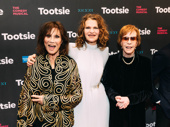 Michele Lee, Sara Bernhard and Carol Burnett get together on the Tootsie red carpet.