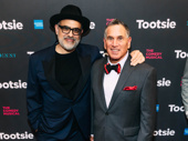 Tootsie composer David Yazbek snaps a pic with scribe Robert Horn.