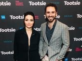 Former The Band's Visit co-stars Katrina Lenk and Pomme Koch cheer on Tootsie's David Yazbek, who also composed The Band's Visit.
