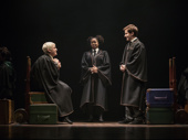 Bubba Weiler as Scorpius, Nadia Brown as Rose and Nicholas Podany as Albus in Harry Potter and the Cursed Child.