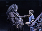 Brian Abraham as Hagrid and Will Coombs as Harry in Harry Potter and the Cursed Child.