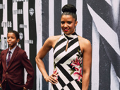 Tony winner Renée Elise Goldsberry gets into the theme.
