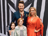 Beetlejuice composer Eddie Perfect with wife Lucy Cochran and children Lottie Lux and Kitty.