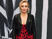 Broadway vet Betsy Wolfe looks stunning in red.