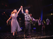 Beetlejuice's Kerry Butler and Rob McClure bow together.