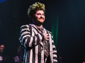 Beetlejuice star Alex Brightman takes his opening night bow.