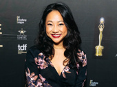 Be More Chill's Outstanding Featured Actress in a Musical nominee Stephanie Hsu is all smiles.